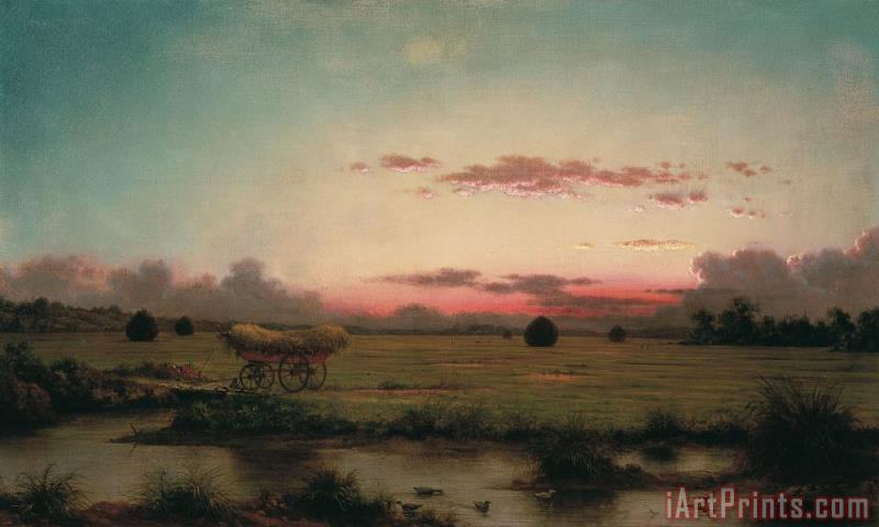 The Marshes at Rhode Island painting - Martin Johnson Heade The Marshes at Rhode Island Art Print