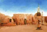 Star Wars Film Set Tatooine Tunisia by Michael Greenaway