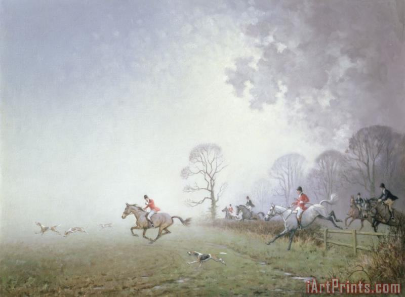 Ninetta Butterworth Hunting Scene Art Print