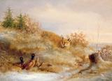 Fox and Pheasants in Winter by Others