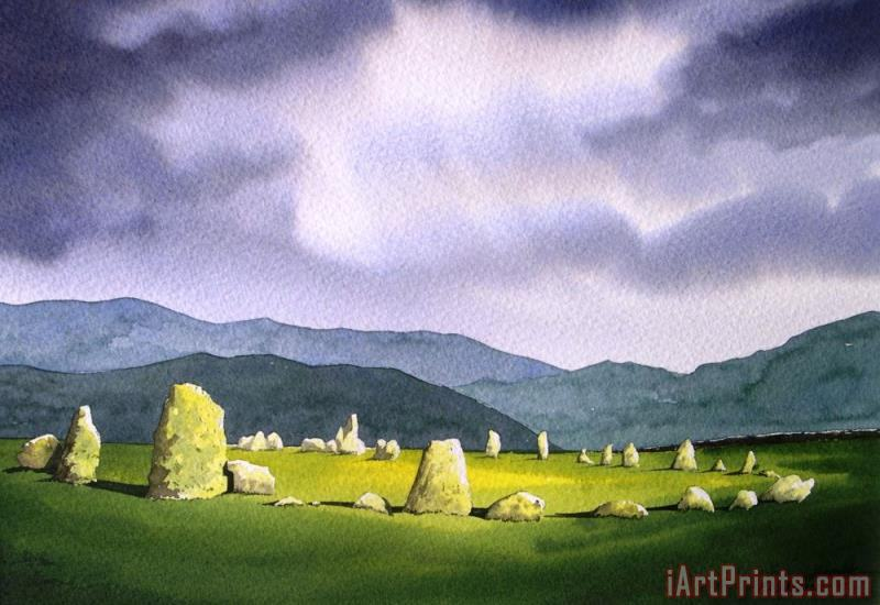 Paul Dene Marlor Castle Rigg Stone Circle Art Print