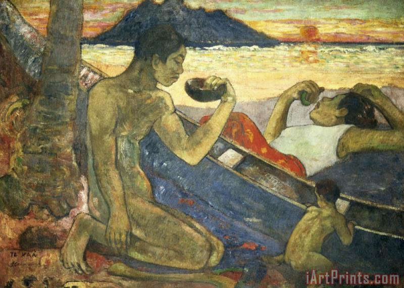 A Canoe painting - Paul Gauguin A Canoe Art Print