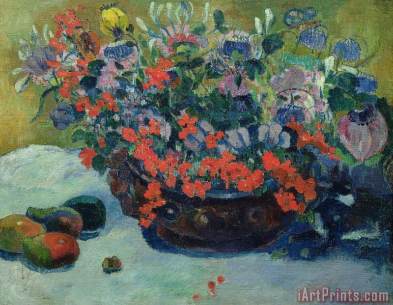 Paul Gauguin Bouquet of Flowers painting - Bouquet of Flowers print ...