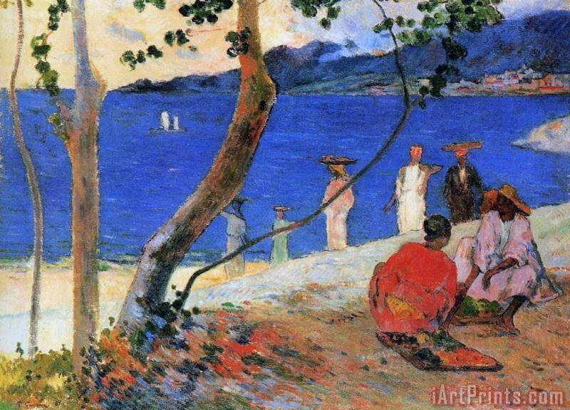 Martinique Island painting - Paul Gauguin Martinique Island Art Print