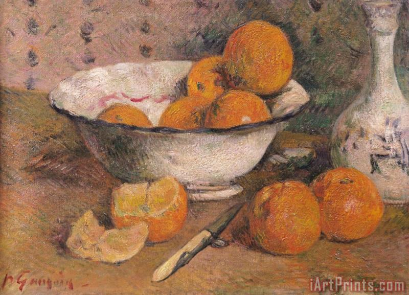 Still life with Oranges painting - Paul Gauguin Still life with Oranges Art Print