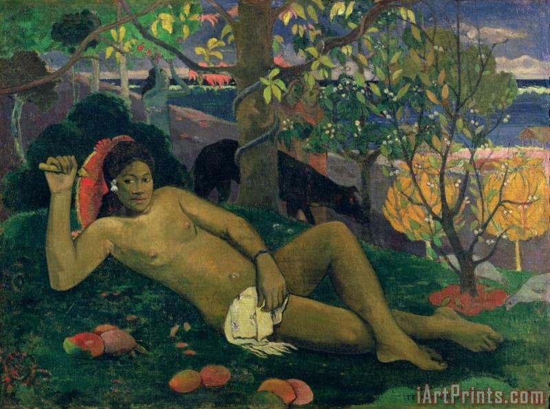 The Kings Wife painting - Paul Gauguin The Kings Wife Art Print