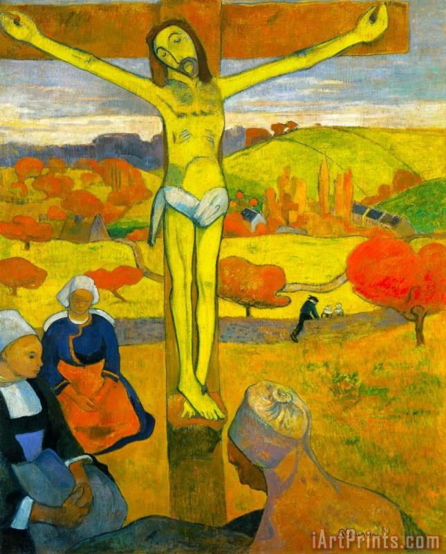 The Yellow Christ painting - Paul Gauguin The Yellow Christ Art Print
