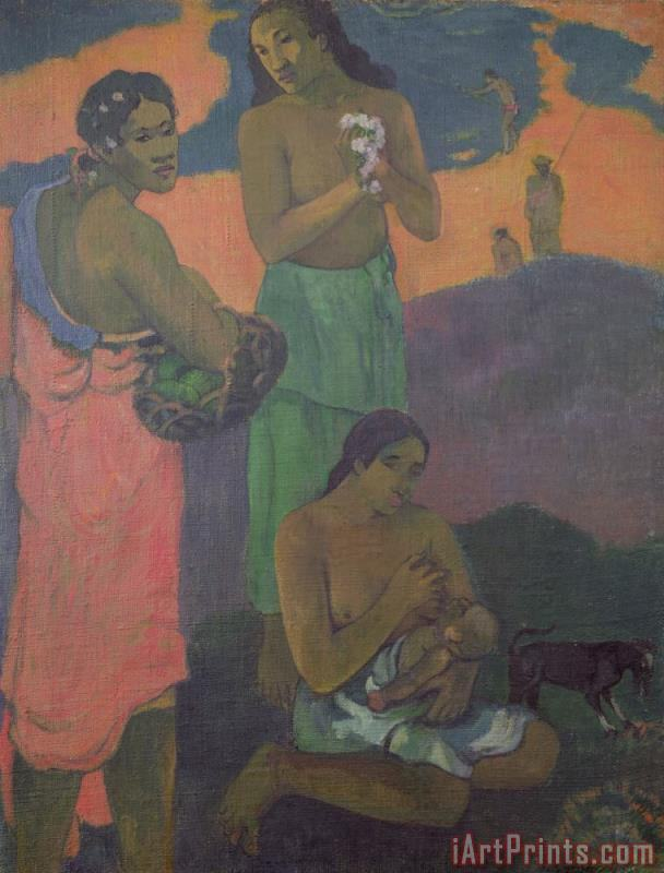 Three Women on the Seashore painting - Paul Gauguin Three Women on the Seashore Art Print