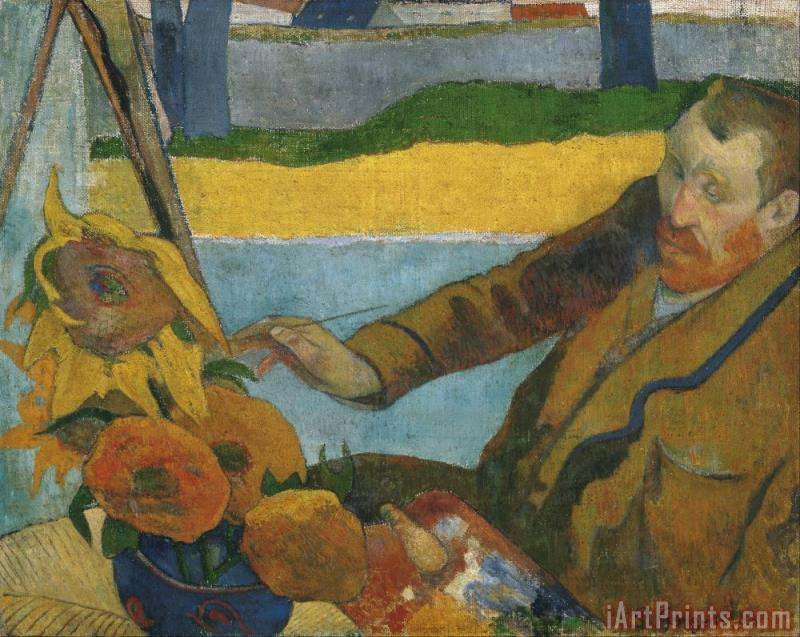 Paul Gauguin Vincent Van Gogh Painting Sunflowers Art Print