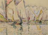 Departure of tuna boats at Groix by Paul Signac