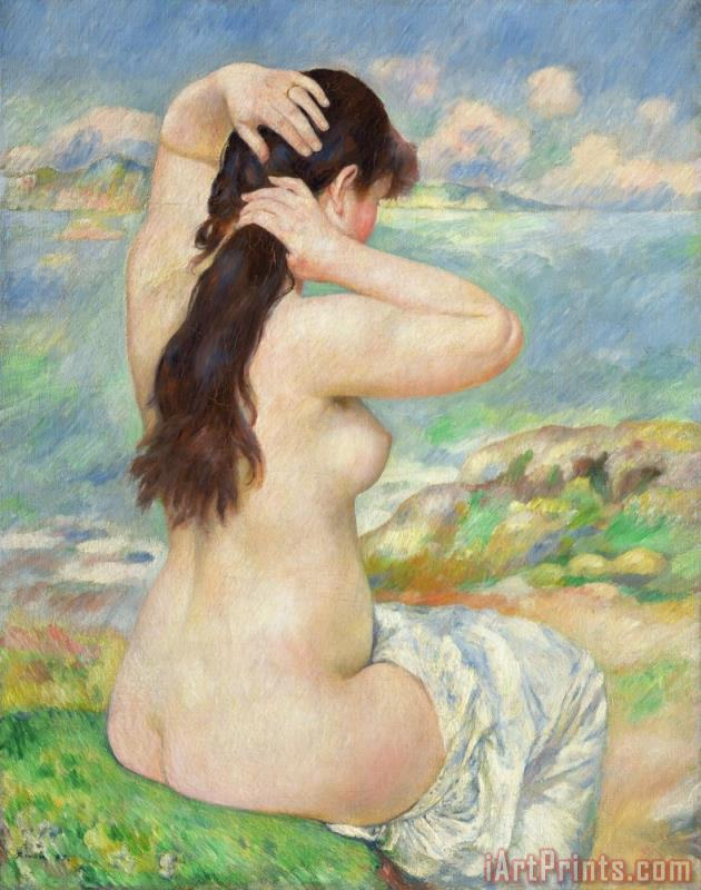 Pierre Auguste Renoir Bather Arranging her Hair Art Print