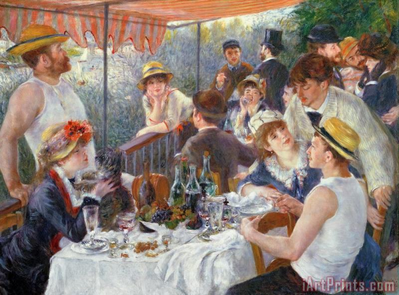 The Luncheon of the Boating Party painting - Pierre Auguste Renoir The Luncheon of the Boating Party Art Print