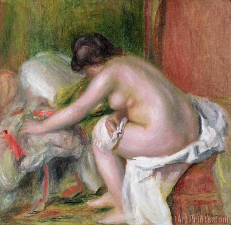 Seated Bather painting - Pierre Auguste Renoir Seated Bather Art Print