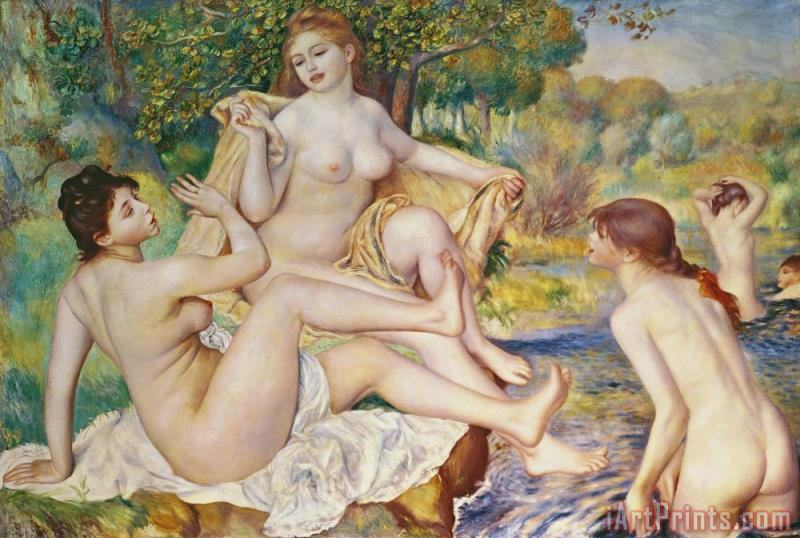 Pierre Auguste Renoir The Bathers Art Print