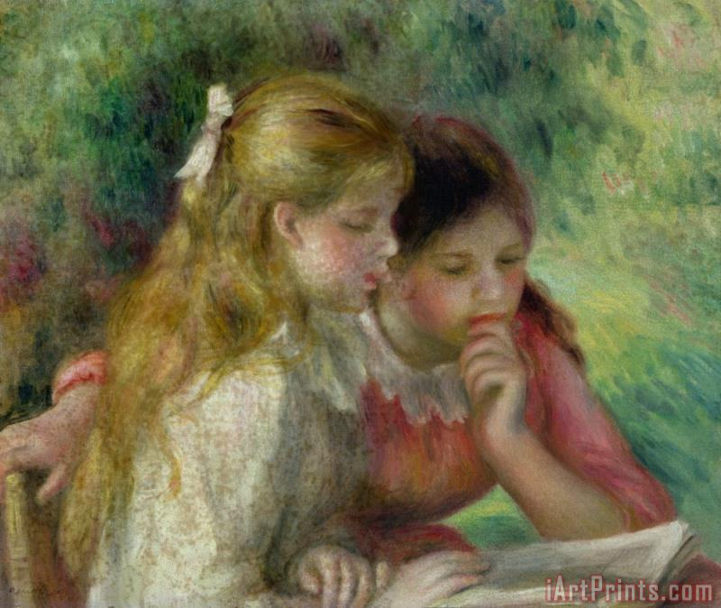 Pierre Auguste Renoir The Reading Art Painting