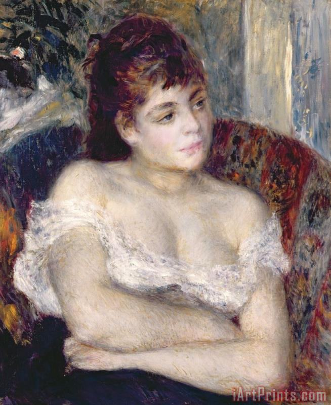 Woman in an Armchair painting - Pierre Auguste Renoir Woman in an Armchair Art Print