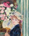 A French Girl with a Fan by Pierre Auguste Renoir