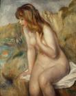 Bather seated on a rock by Pierre Auguste Renoir