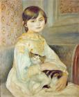 Julie Manet with Cat by Pierre Auguste Renoir
