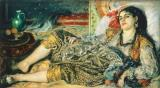 Odalisque An Algerian Woman by Pierre Auguste Renoir