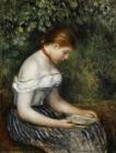 The Reader A Seated Young Girl by Pierre Auguste Renoir