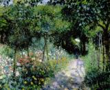 Woman in a Garden by Pierre Auguste Renoir