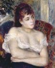 Woman in an Armchair by Pierre Auguste Renoir