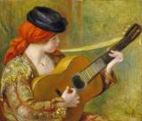 Young Spanish Woman With A Guitar by Pierre Auguste Renoir