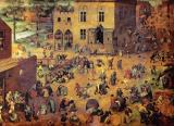 Children's Games Painting by Pieter Bruegel