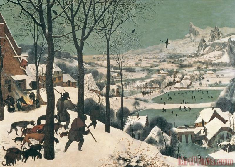Hunters in the Snow painting - Pieter the Elder Bruegel Hunters in the Snow Art Print