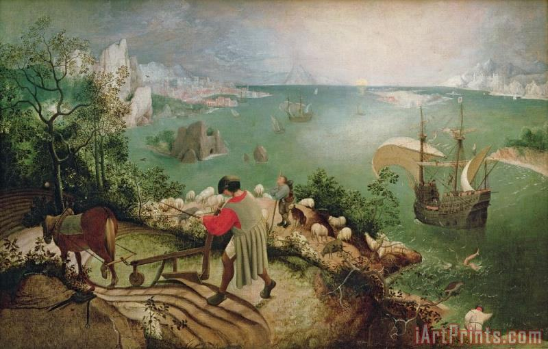 Landscape with the Fall of Icarus painting - Pieter the Elder Bruegel Landscape with the Fall of Icarus Art Print