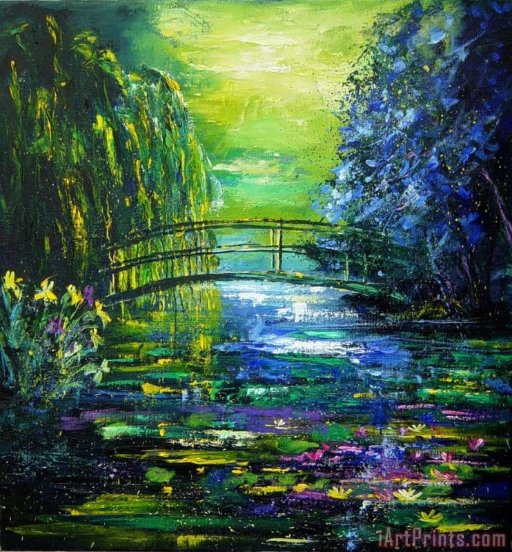 After Monet painting - Pol Ledent After Monet Art Print