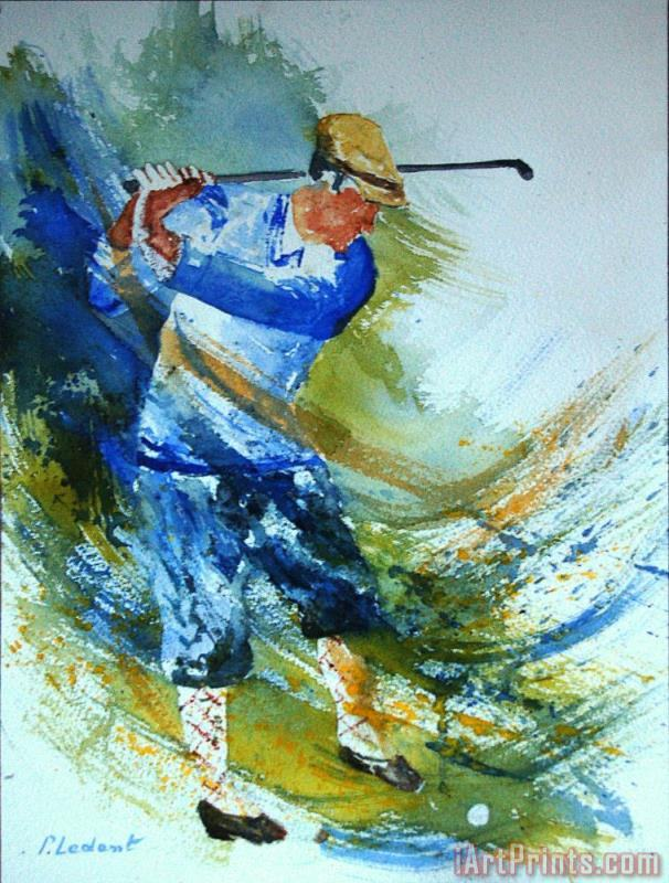Golf Player painting - Pol Ledent Golf Player Art Print