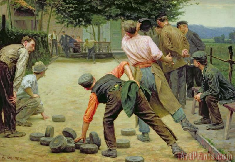 A Game of Bourles in Flanders painting - Remy Cogghe A Game of Bourles in Flanders Art Print