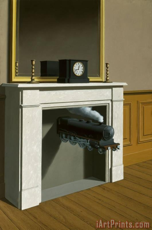 rene magritte Time Transfixed 1938 Art Print
