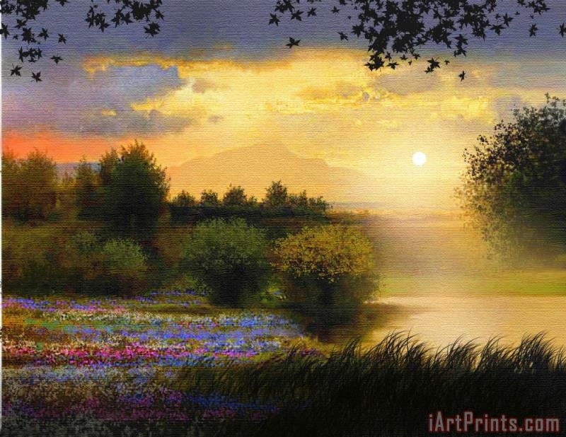 Meadow Light painting - Robert Foster Meadow Light Art Print