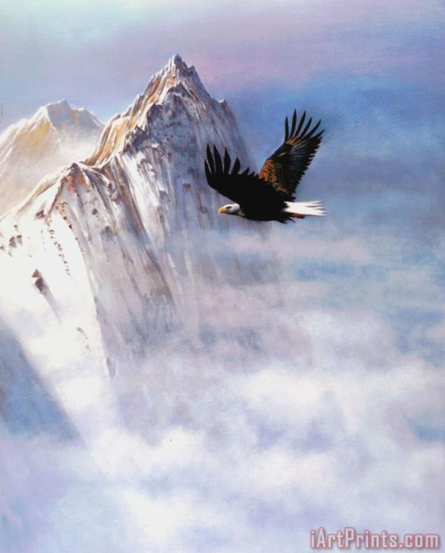 Mountain Majesty painting - Robert Foster Mountain Majesty Art Print