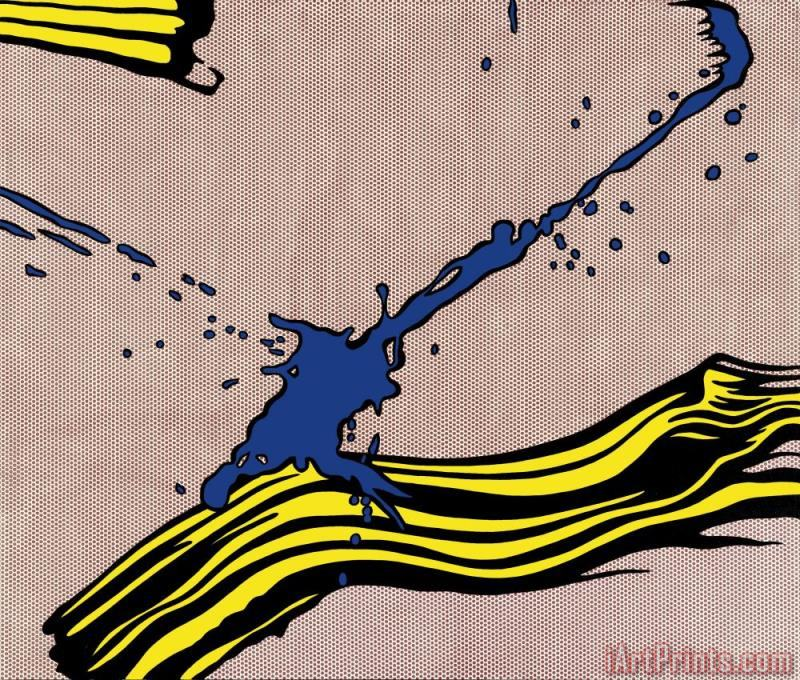 Roy Lichtenstein Brushstroke with Spatter 1966 Art Print