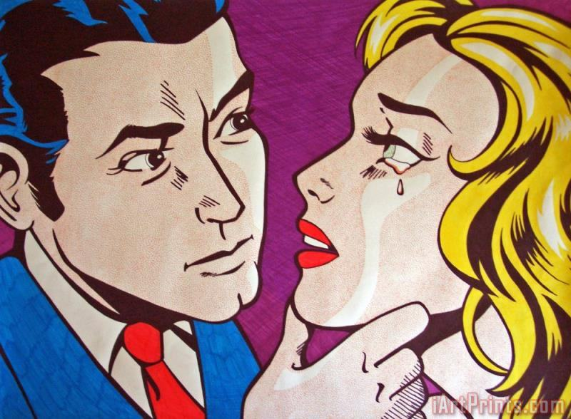 Roy Lichtenstein Emulation Art Print