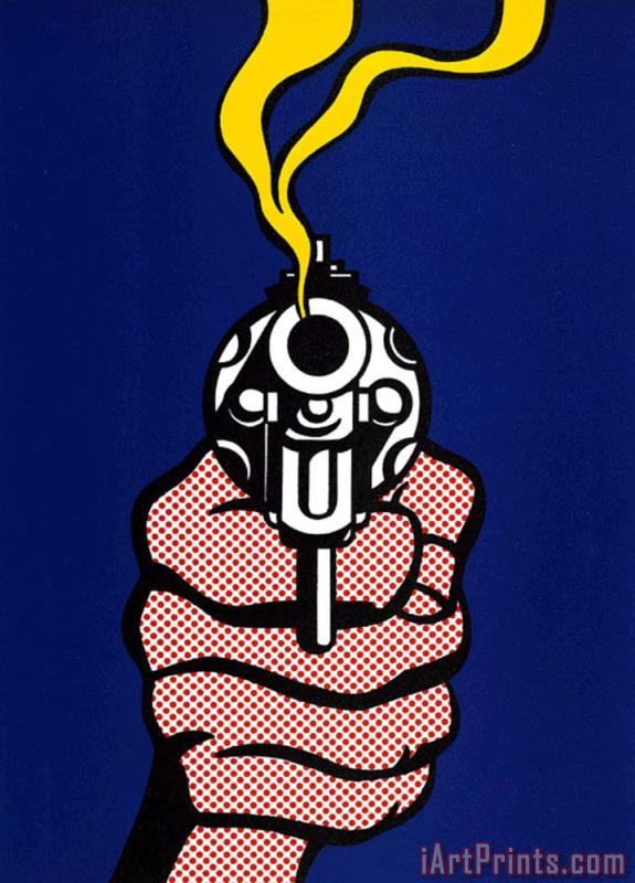 Roy Lichtenstein Gun Art Print