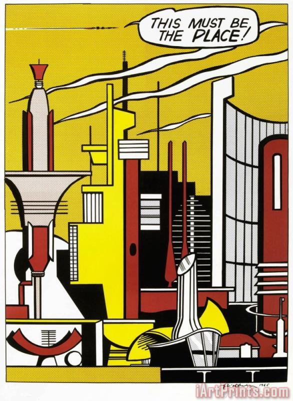 This Must Be The Place Roy Lichtenstein 1965 painting - Roy Lichtenstein This Must Be The Place Roy Lichtenstein 1965 Art Print