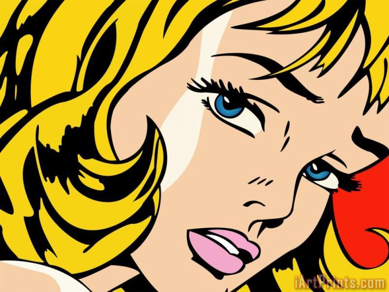 Vector painting - Roy Lichtenstein Vector Art Print