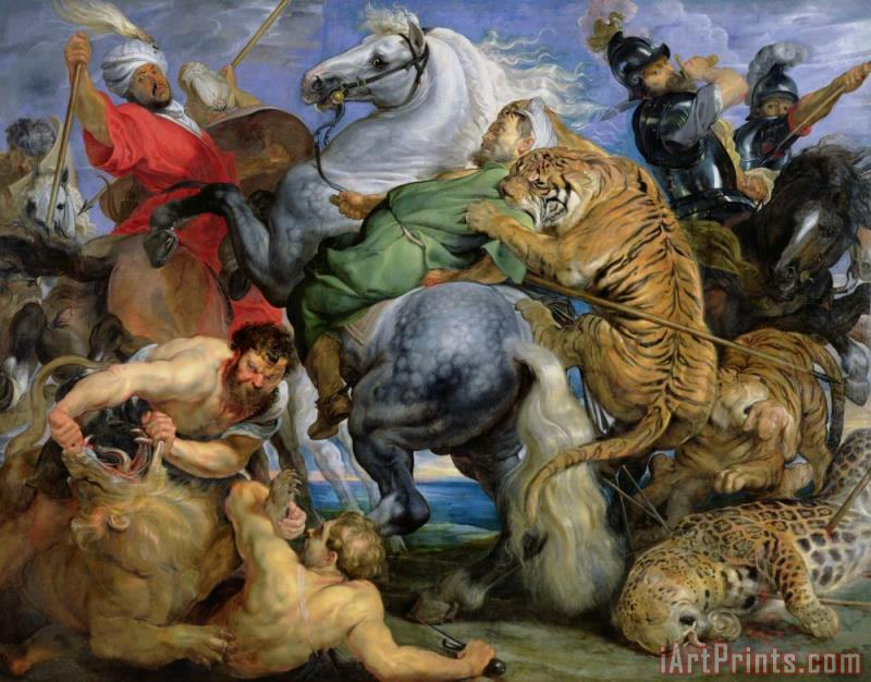 The Tiger Hunt painting - Rubens The Tiger Hunt Art Print