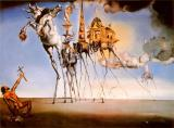 1946 Prints - The Temptation of St Anthony C 1946 by Salvador Dali