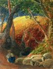 Tree Paintings - The Magic Apple Tree by Samuel Palmer