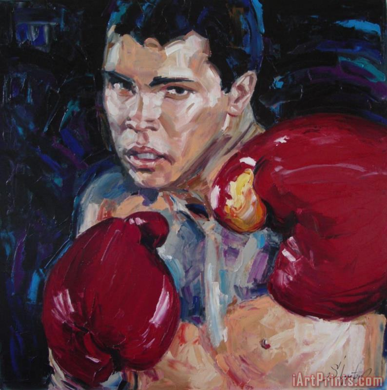 Great Ali painting - Sergey Ignatenko Great Ali Art Print
