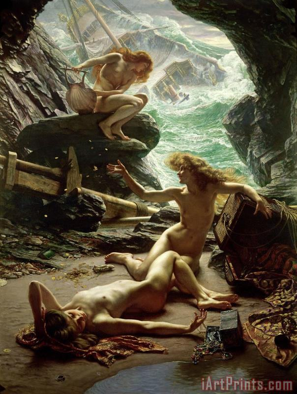 The Cave of the Storm Nymphs painting - Sir Edward John Poynter The Cave of the Storm Nymphs Art Print