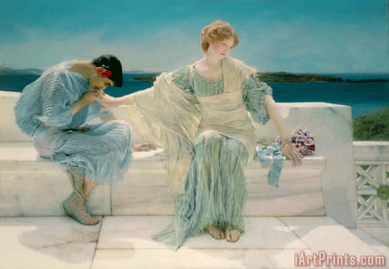 Ask me no more painting - Sir Lawrence Alma-Tadema Ask me no more Art Print