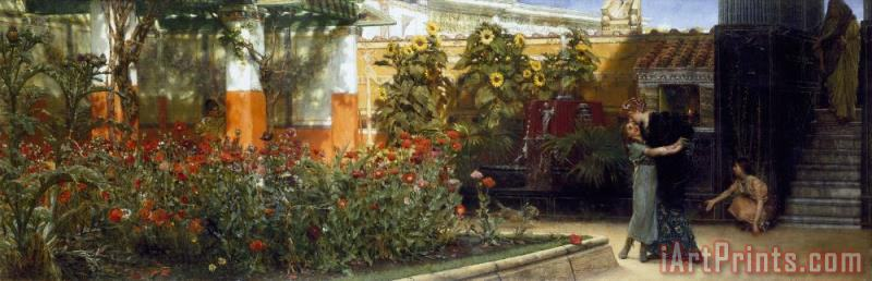 Sir Lawrence Alma-Tadema Corner of a Roman Garden Art Print