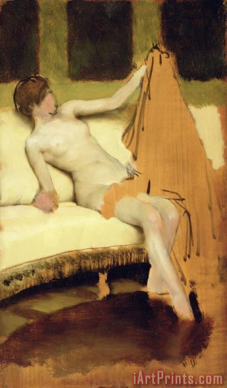 Female Nude painting - Sir Lawrence Alma-Tadema Female Nude Art Print